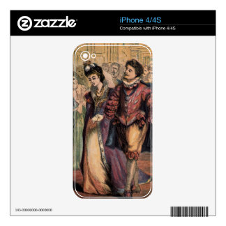 Vintage Cinderella and Prince at the Ball Skin For iPhone 4S