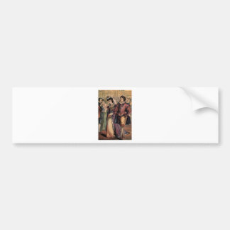 Vintage Cinderella and the Prince at the Ball Car Bumper Sticker