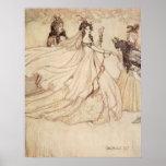 Vintage Cinderella (Ashenputtel) by Arthur Rackham Posters