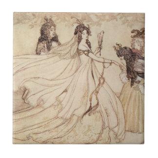 Vintage Cinderella Ashenputtel by Arthur Rackham Ceramic Tiles