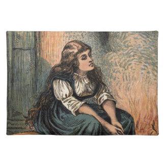 Vintage Cinderella Being Sad Cloth Placemat