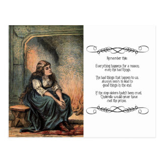 Vintage Cinderella Being Sad Postcard