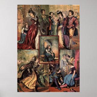 Vintage Cinderella Christmas Montage Poster