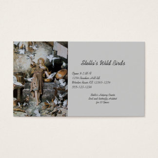 Vintage Cinderella Feeding Birds Business Card