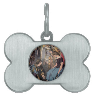Vintage Cinderella Fitting the Glass Slipper Pet ID Tag