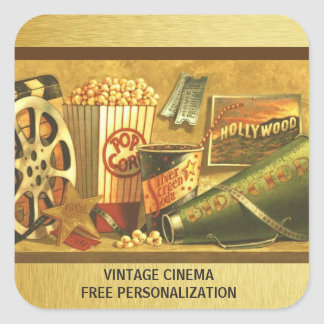 Vintage Cinema Sticker Pack