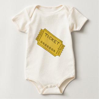 Vintage Cinema Ticket Baby Bodysuit