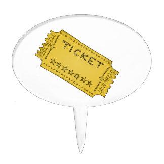 Vintage Cinema Ticket Cake Toppers