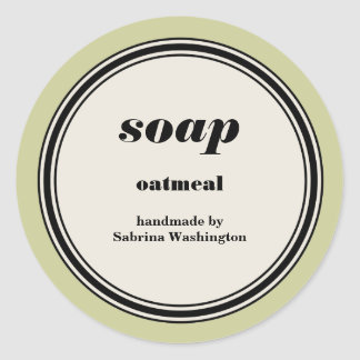 Vintage Circle Frame Handmade Soap Label Template