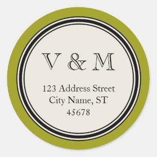 Vintage Circle Frame Return Address Seal Template