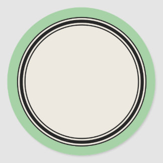 Vintage Circle Label Template, Jadeite