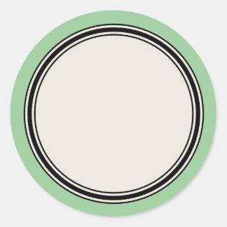 Vintage Circle Label Template, Jadeite Sticker