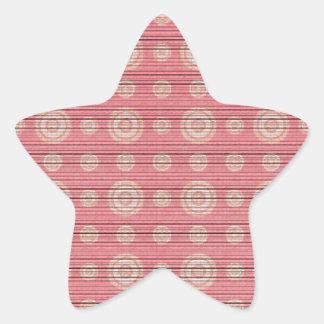 vintage circle pattern star sticker