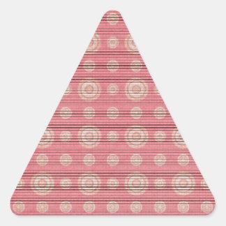 vintage circle pattern triangle sticker