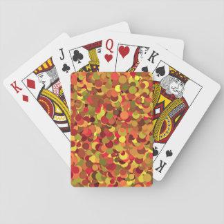 Vintage Circles Backdrop Playing Cards