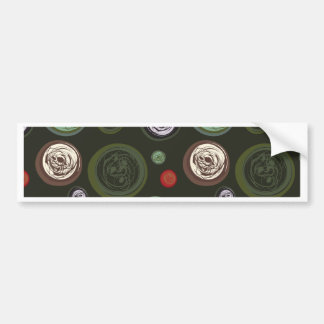 Vintage circles bumper sticker
