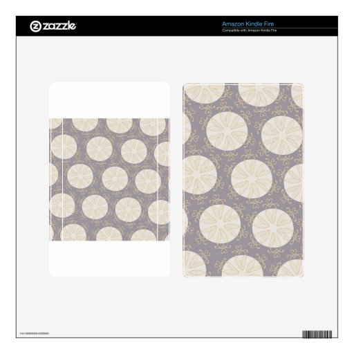 Vintage Circles Pattern Skin For Kindle Fire