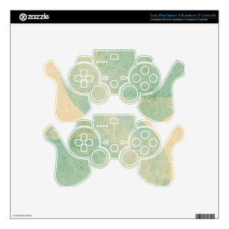 Vintage Circles PS3 Controller Skin