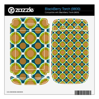 Vintage circles BlackBerry torch decal
