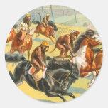 Vintage: circo Barnum y Bailey - Pegatina Redonda