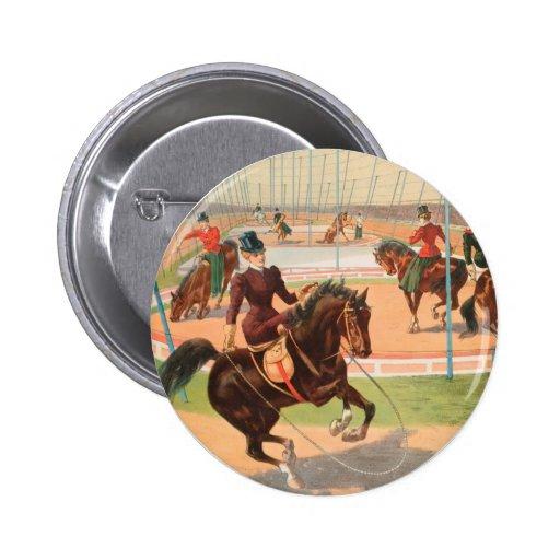 Vintage: circo Barnum y Bailey - Pin Redondo 5 Cm