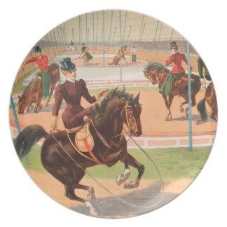 Vintage: circo Barnum y Bailey - Plato De Cena