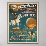 Vintage: circo Barnum y Bailey - Póster