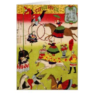 Vintage CircueSoulie Tarjeta De Felicitación