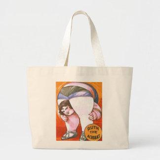 Vintage Circus Acrobat Large Tote Bag