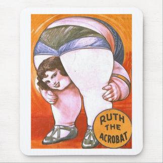 Vintage Circus Acrobat Mouse Pad