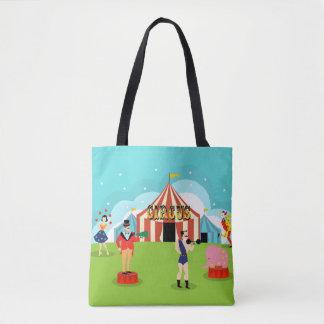 Vintage Circus All-Over Print Tote Bag