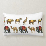 Vintage Circus Animals on Parade Pillow