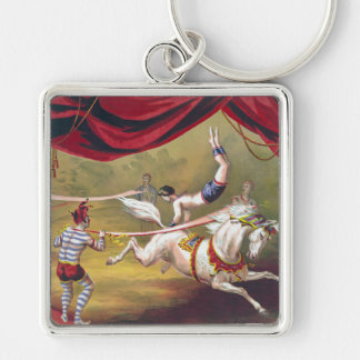Vintage Circus Art Key Chain