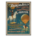 poster, circus, vintage, barnum, bailey, artists,