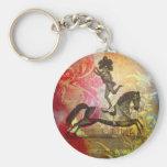 Vintage Circus Basic Round Button Keychain