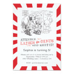 Vintage Circus Birthday Party 5x7 Paper Invitation Card
