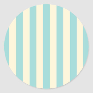 Vintage Circus Blue Stripes Envelope Seal Classic Round Sticker