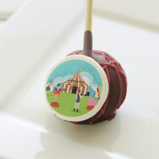 Vintage Circus Cake Pops