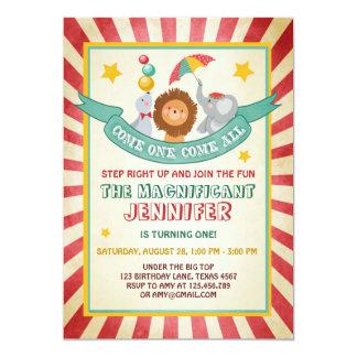 Vintage Circus Invitations 100