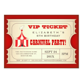 Circus Invitations & Announcements | Zazzle