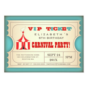 carnival birthday invitations zazzle