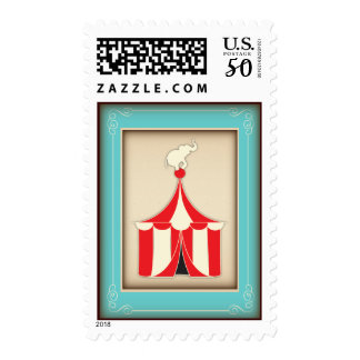 Vintage Circus Carnival Party Big Top Postage