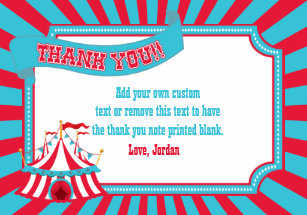 Carnival Thank You Cards Zazzle