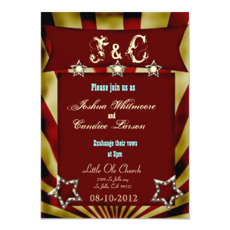 vintage circus carnival wedding invitation 3