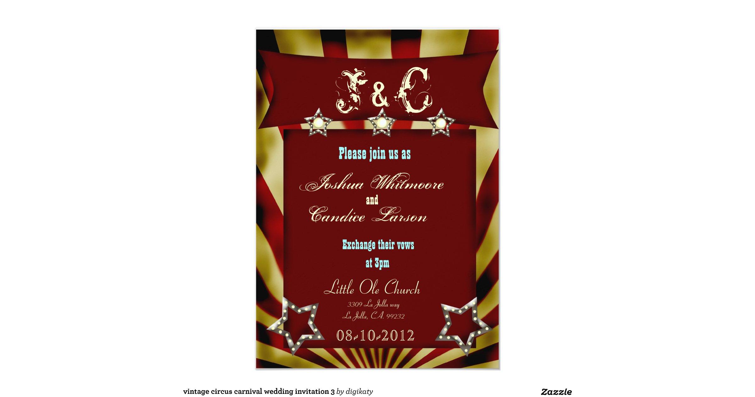 carnival wedding invitations uk - 28 images - diy vintage carnival ...