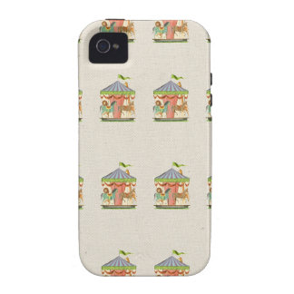Vintage circus carousel horses retro horse pattern vibe iPhone 4 case