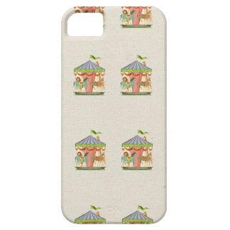 Vintage circus carousel horses retro horse pattern iPhone SE/5/5s case