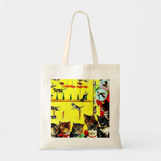 Vintage Circus Cat Act Poster Wall Art AddYourText Canvas Bag