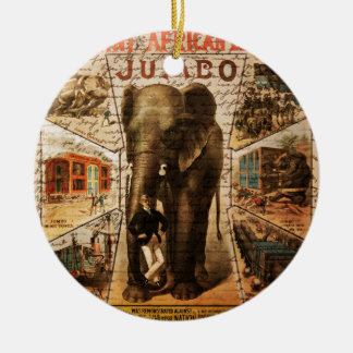 Vintage circus ceramic ornament