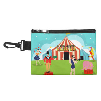 Vintage Circus Clip On Accessory Bag